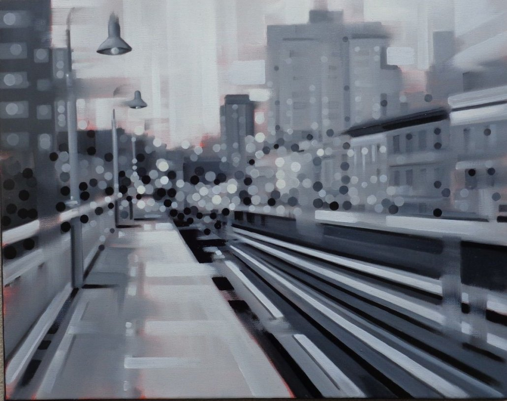 Image 1 of Black and White Tracks Original