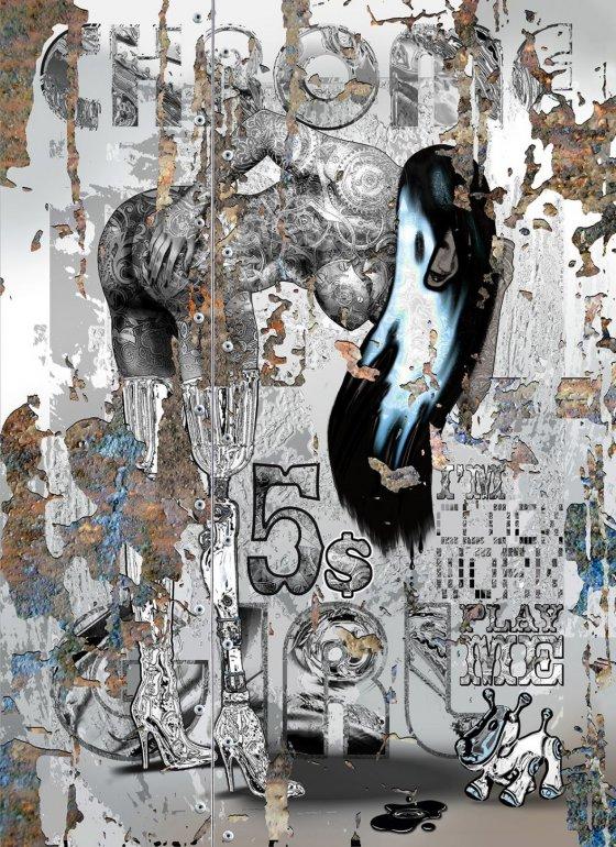 Image 1 of Chrome Girl - I'm Clockwork - Original