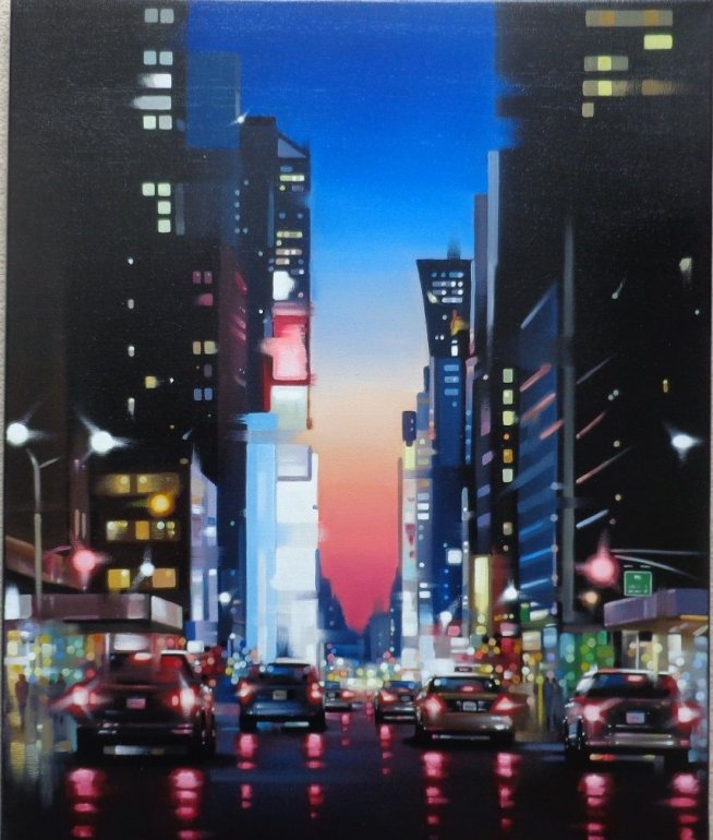Image 1 of Downtown Sunset Original