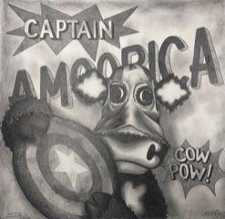 Image 1 of Captain Amoorica Original Pencil Sketch