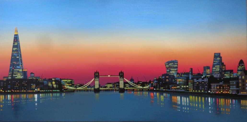 Image 1 of Thames Sunset Original