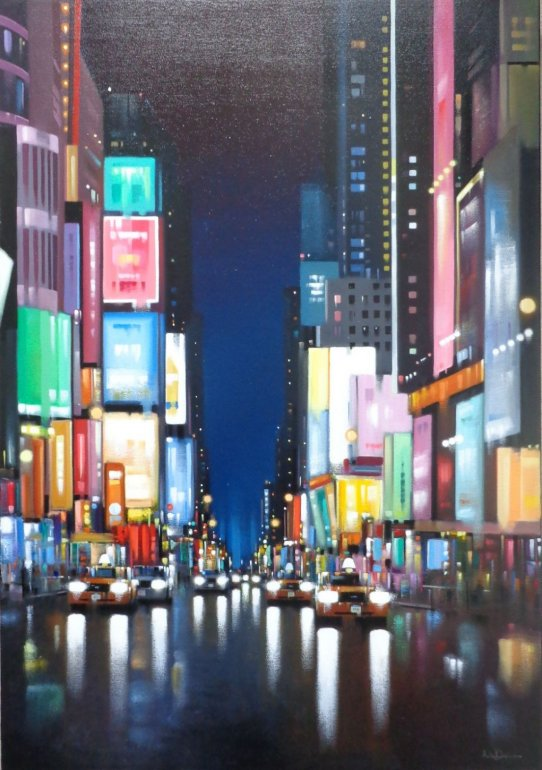 Image 1 of Times Square Night Rain Original