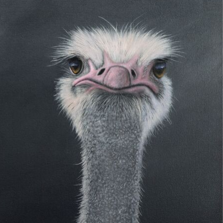Image 1 of We Are Not Amused - Original Oil on Canvas