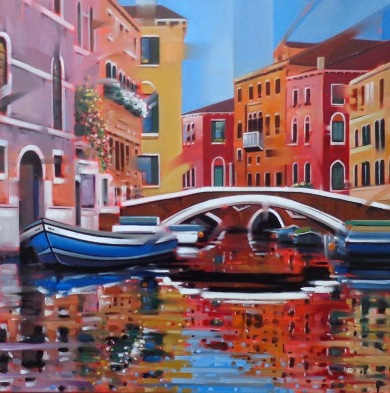 Image 1 of Venetian Canal Original